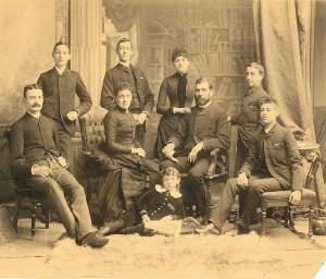 Edward and Harriet Burch and their family, circa 1886, Toronto, Ontario